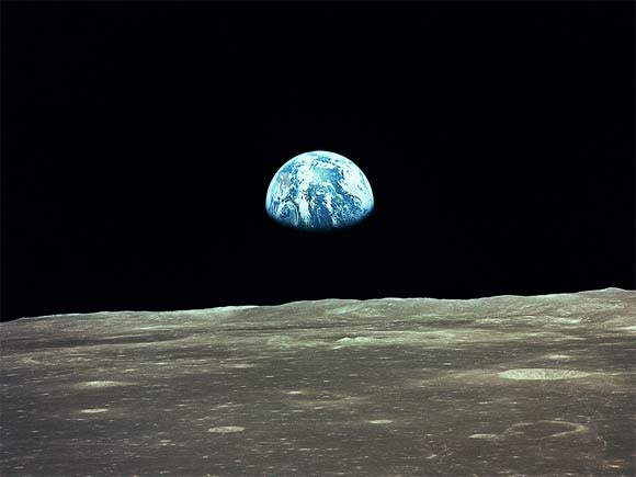 Earth from the Moon, photo credit NASA