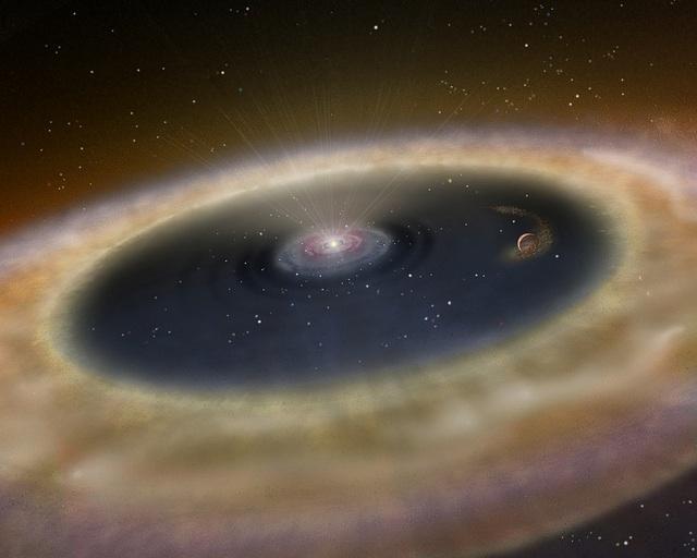 Artist concept of proto-planets.  Image credit: NASABlueshift