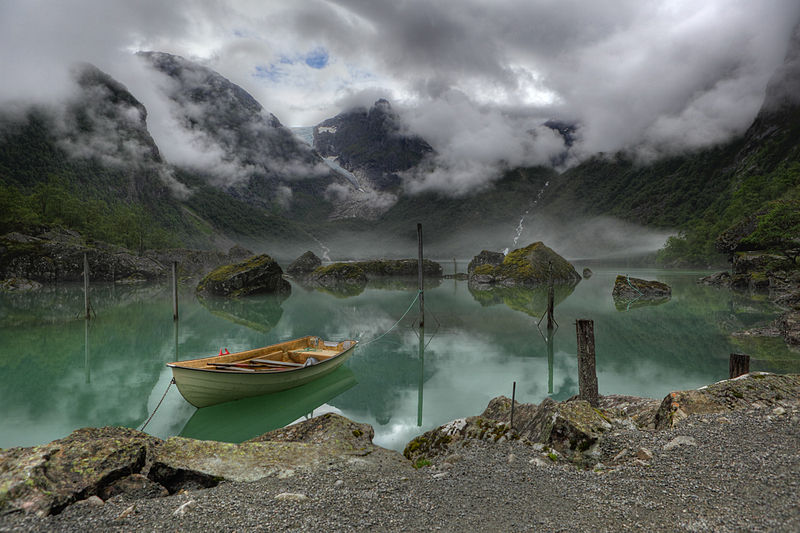 Winner of the 2011 Picture of the Year: A view of Lake Bondhus in Norway, and in the background of the Bondhus Glacier, part of the Folgefonna Glacier.