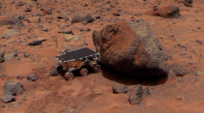 Sojourner rover on Mars