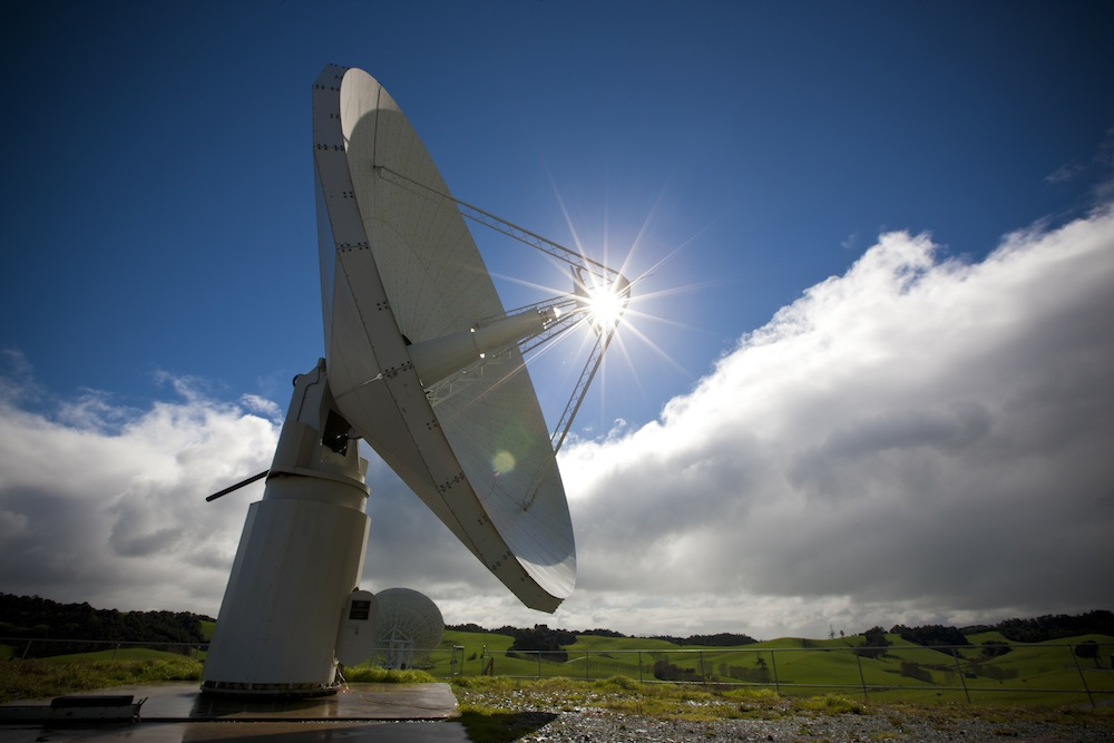 The Warkworth antenna in New Zealand  an important part of early SKA science. Credit: Alex Wallace.