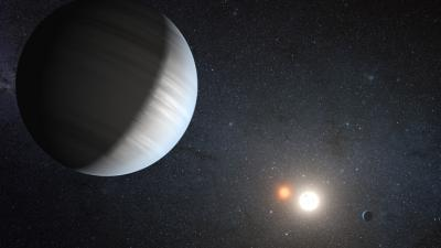 Artist&#039;s concept of the Kepler-47 system.