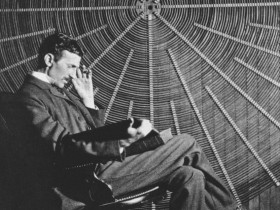 Nikola Tesla seated 2
