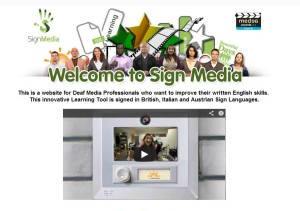 SignMedia: online learning tool for deaf media professionals