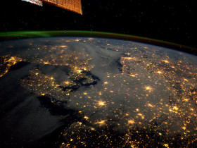 Northern Europe from the ISS