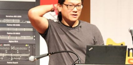 Andrew &quot;bunnie&quot; Huang (@bunniestudios) at LCA2013: &quot;Do what it takes to solve the problem, and no more&quot;. Photo by @kinshasha on Twitter