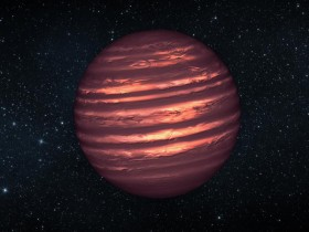 This artist&#039;s conception illustrates the brown dwarf named 2MASSJ22282889-431026. NASA&#039;s Hubble and Spitzer space telescopes observed the object to learn more about its turbulent atmosphere. Image credit: NASA/JPL-Caltech