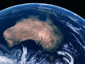 Australia from orbit