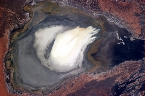 Dry Lake in the Outback