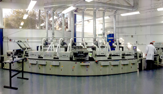 The newly installed solar cell printer at CSIRO.