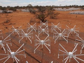 Australia's Murchison Widefield Array, a precursor to the Square Kilometre Array. Credit: SKA