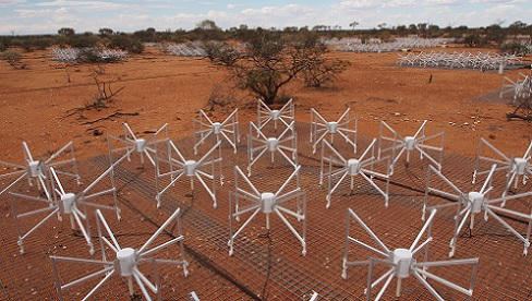 Australia's Murchison Widefield Array, a precursor to the Square Kilometre Array. Credit: SKA