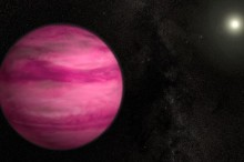 The magenta exoplant, Illustration courtesy S. Wiessinger, NASA, via BBC