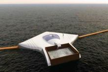 Ocean Cleanup Array by Boyan Slat via inhabitat.com