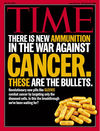 Cover of Time Magazine in May 2001.